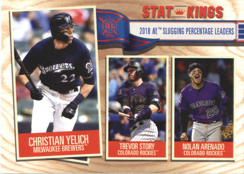 Photo of 2019 Topps Big League #360 Nolan Arenado/Trevor Story/Christian Yelich