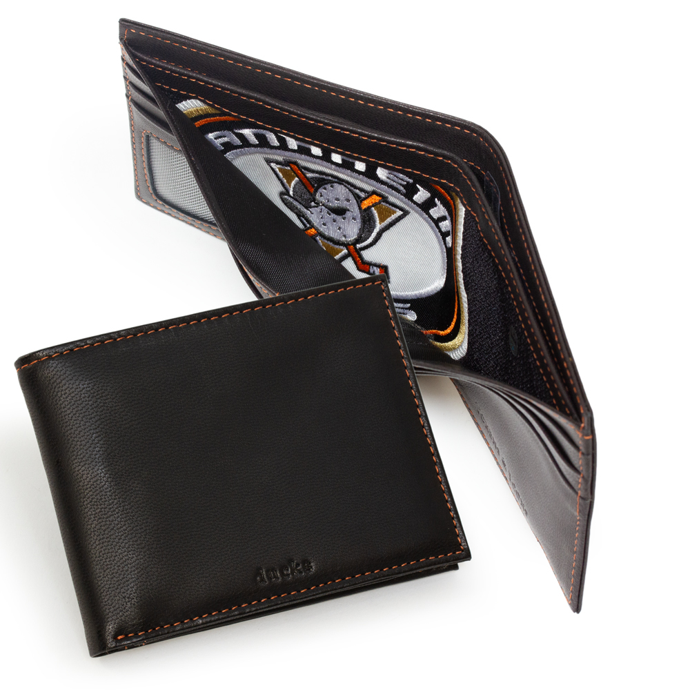 Anaheim Ducks Game Used Jersey Patch Wallet
