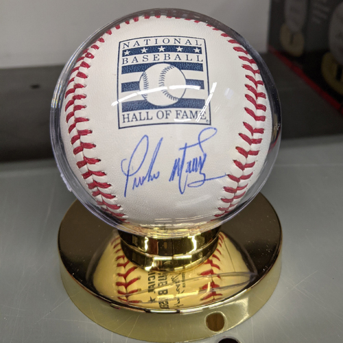 Photo of Pedro Martinez Autographed National Baseball Hall of Fame Baseball
