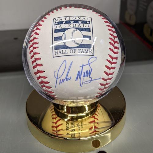 Photo of Pedro Martinez Autographed National Baseball Hall of Fame Baseball