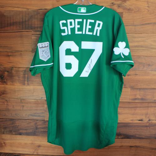 Autographed 2020 St. Patrick's Day Jersey: Gabe Speier #67 - Size 46