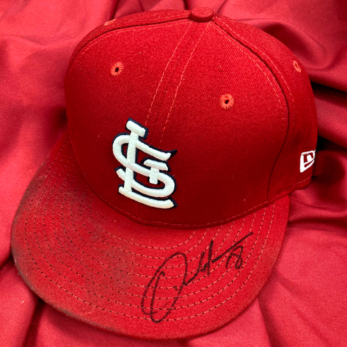 Photo of Carlos Martinez Autographed Team Issued Home Cap (Size 6 7/8)
