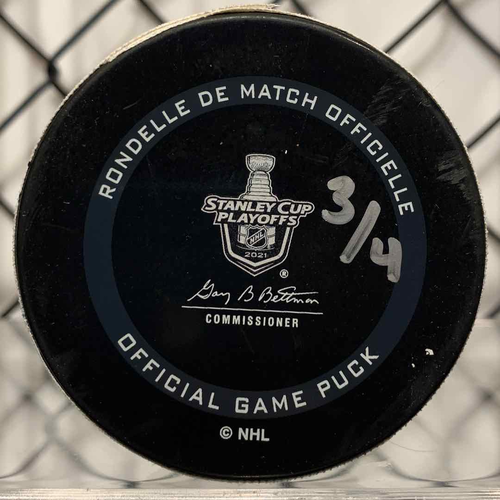 2021 SCP North Division Round 1 Game Used Puck (LE #3 of 4)