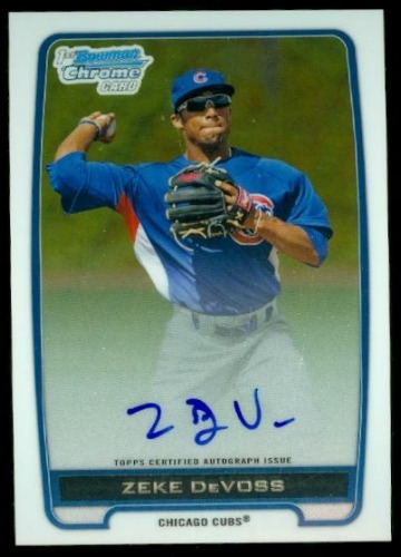 Photo of 2012 Bowman Chrome Prospect Autographs #ZD Zeke DeVoss