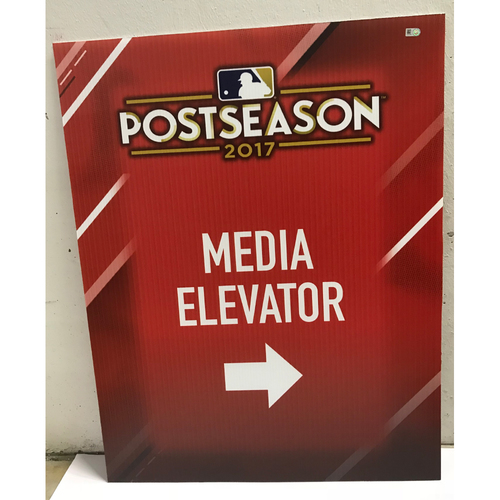 Photo of Postseason 2017 Media Elevator Signage