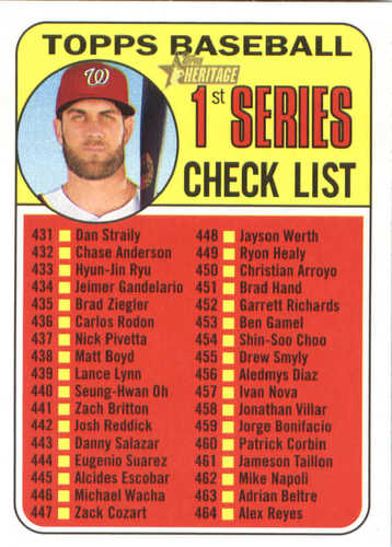 Photo of 2018 Topps Heritage #399 Bryce Harper CL