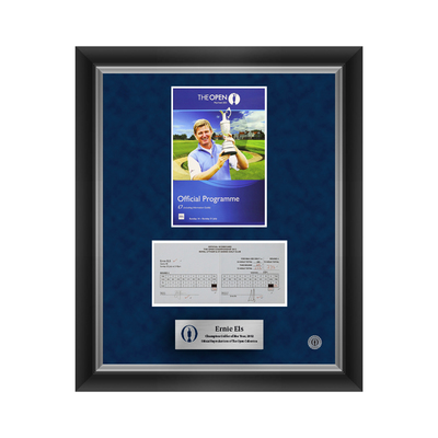 1 of 500 L/E Ernie Els, The 141st Open Final Round Scorecard and 2013 Programme Cover Reproductions Framed