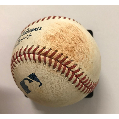 Photo of Ozzie Albies Game-Used Hit Single Baseball - 5/28/18