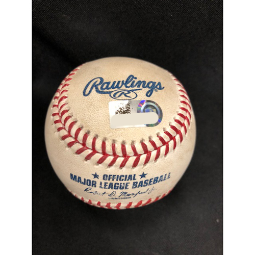Photo of Joey Votto -- Game-Used Home Run Baseball -- 268th Career HR / 148th Career HR @ Great American Ball Park -- Sept. 9, 2018 -- SD vs. CIN