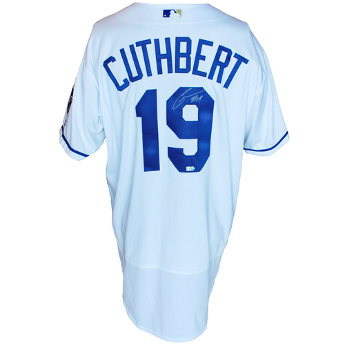 Photo of Autographed White Jersey: Cheslor Cuthbert