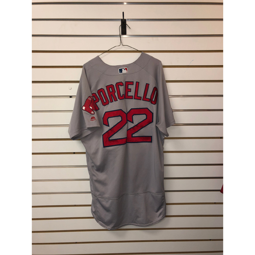 Photo of Rick Porcello Team-Issued 2018 Postseason Road Jersey