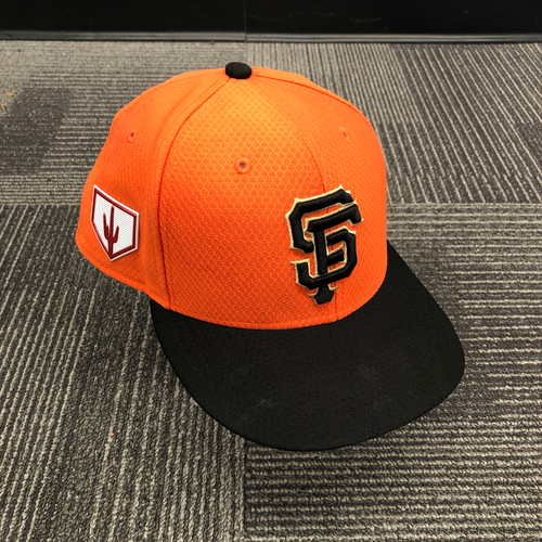 Photo of 2019 Team Issued Orange Spring Training Cap - #91 Trevor Gott - SIze 7 1/4