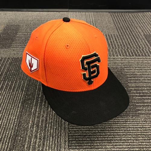 Photo of 2019 Team Issued Orange Spring Training Cap - #91 Trevor Gott - SIze 7 1/4