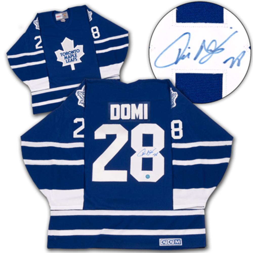 TIE DOMI Toronto Maple Leafs SIGNED Hockey Jersey