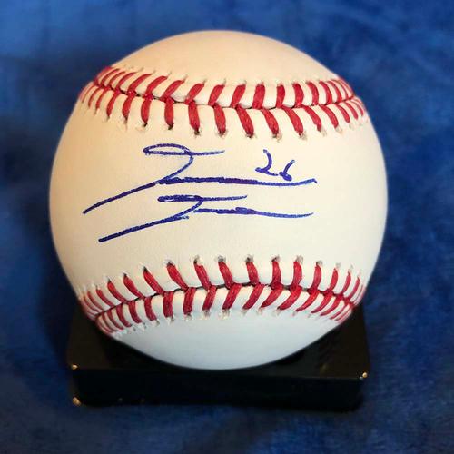 UMPS CARE AUCTION: David Dahl Signed Baseball