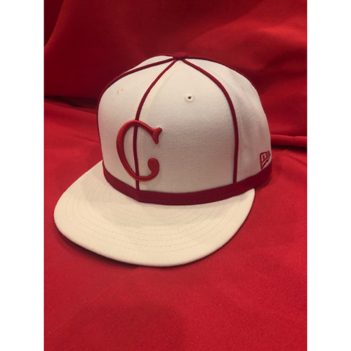 Amir Garrett -- 1902 Throwback Cap -- Game Used -- SF @ CIN on May 4, 2019