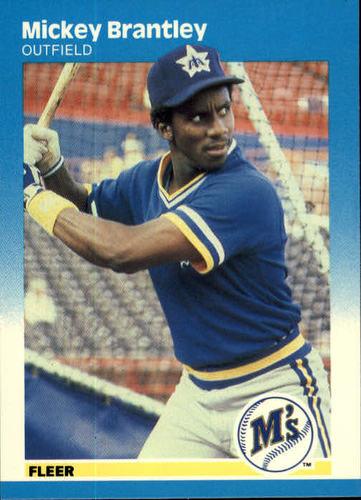 Photo of 1987 Fleer #582 Mickey Brantley