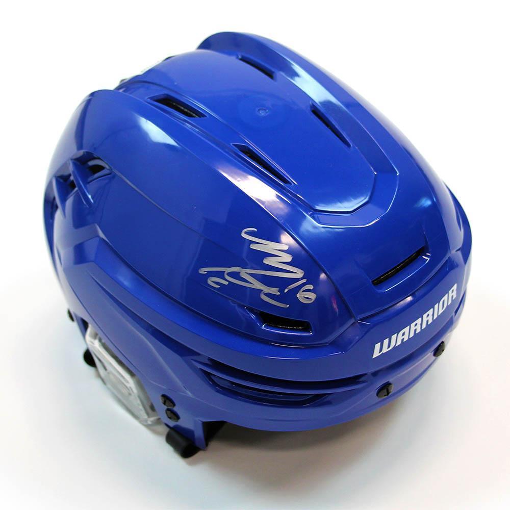 Mitch Marner Autographed Warrior Hockey Helmet - Toronto Maple Leafs
