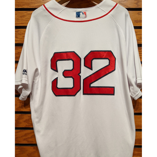Red Sox #32 Team Issued Home White Jersey
