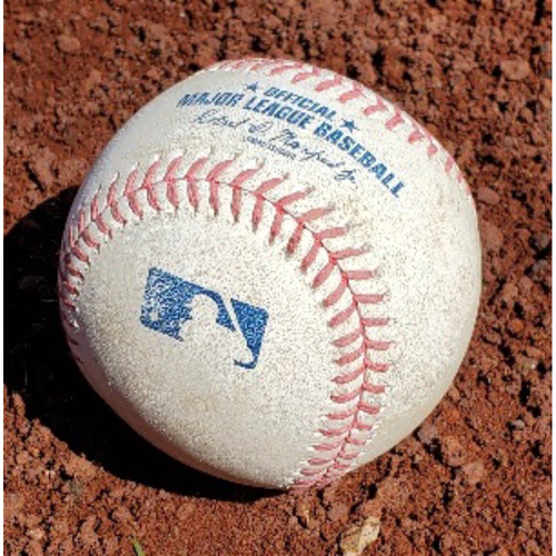 Photo of 2021 Phillies Game-Used Baseball - James McCann RBI Single (First RBI with Mets)