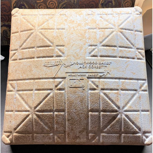 Photo of 2021 Opening Day Detroit Tigers Comerica Park Game-Used Base with Opening Day Jewels - Miguel Cabrera Home Run #488 (MLB AUTHENTICATED)