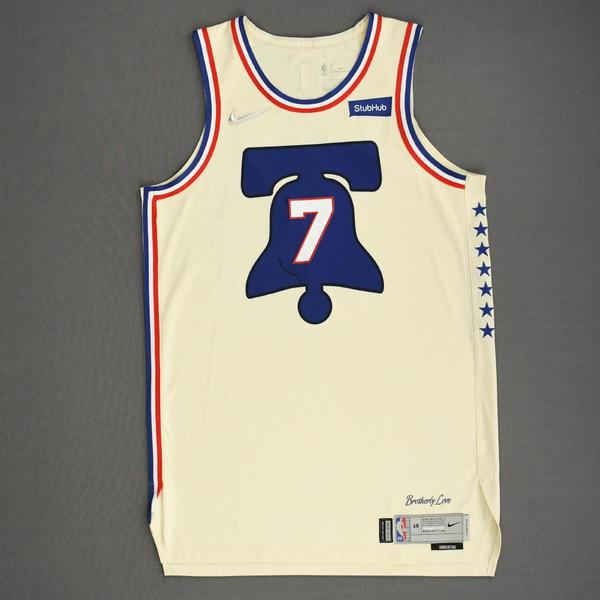 Image of Isaiah Joe - Philadelphia 76ers - Game-Worn Earned Edition Jersey - 2020-21 NBA Season