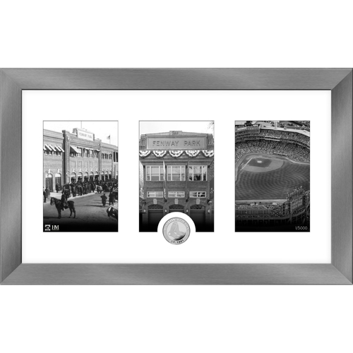 Photo of Boston Red Sox Art Deco Silver Coin Photo Mint