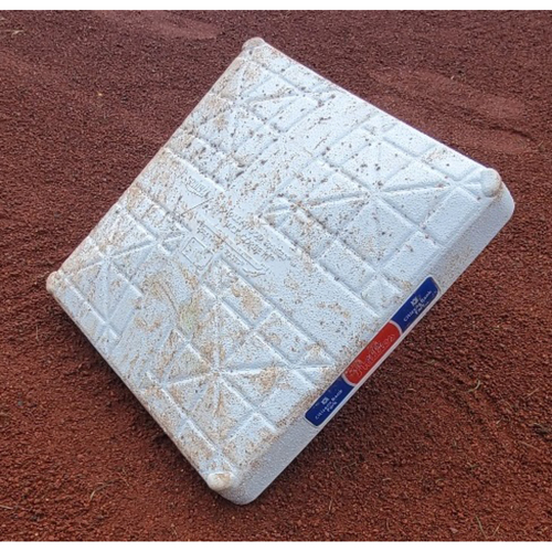 Photo of 2021 Phillies Game-Used 1st Base - Luke Williams First Career Hit & First Career Home Run