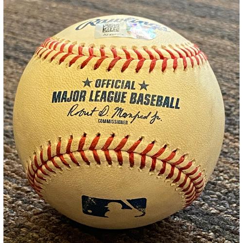 Photo of Austin Hays: Baseball - Game Used (Single - 9/28/21 vs. Red Sox)