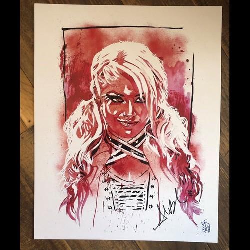 Alexa Bliss SIGNED Rob Schamberger 11 x 14 Art Print (Spiteful)