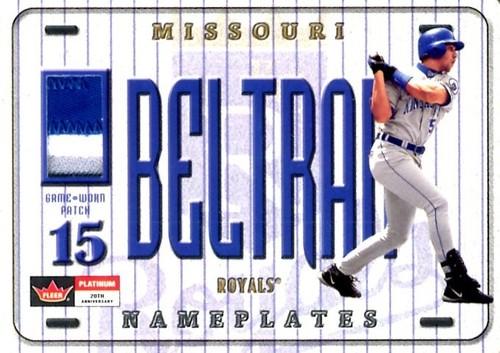 Photo of 2001 Fleer Platinum Nameplates #1 Carlos Beltran/90