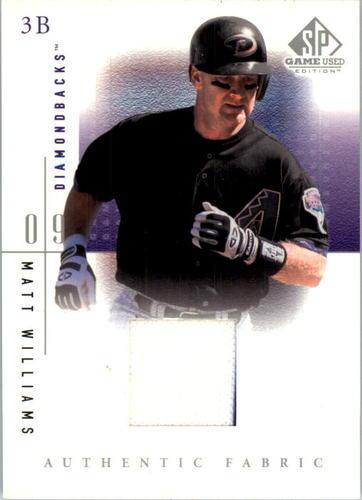Photo of 2001 SP Game Used Edition Authentic Fabric #MW Matt Williams