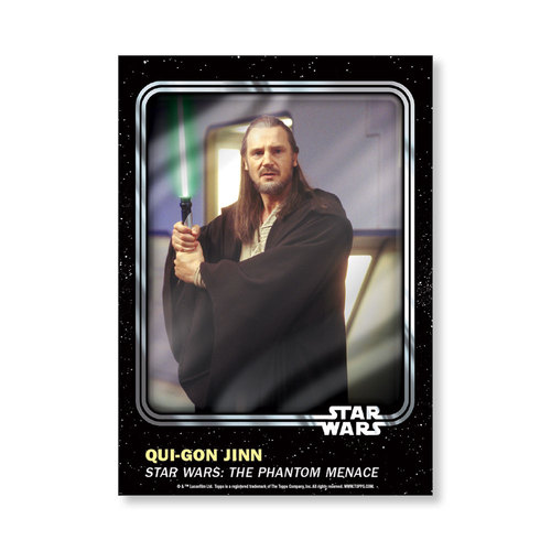 Qui-Gon  Jinn 2016 Star Wars Card Trader Base Poster - # to 99