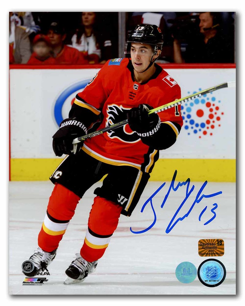 Johnny Gaudreau Calgary Flames Autographed NHL Hockey 8x10 Photo
