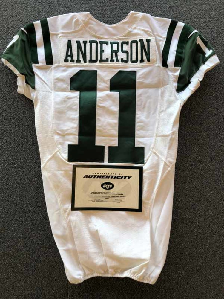 separation shoes 6fe6c dab1d NFL Auction | New York Jets - 2016 #11 Robby Anderson Game ...
