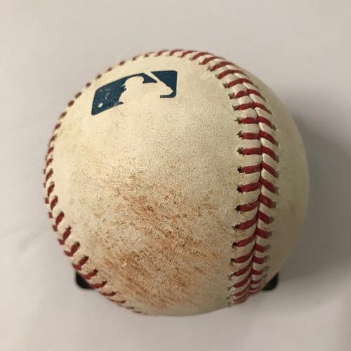 Photo of Freddie Freeman Game-Used Hit Double Baseball - 8/12/2018