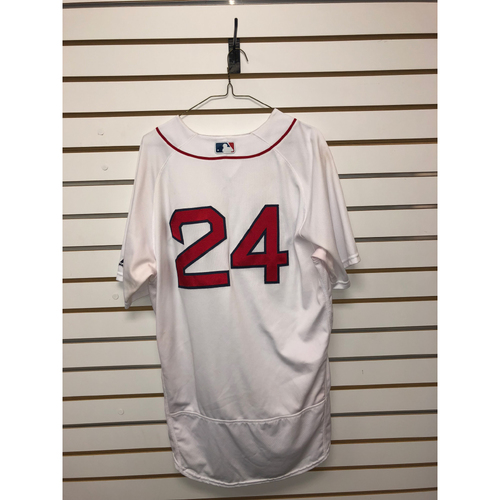 Photo of David Price Game-Used July 12, 2018 Home Jersey