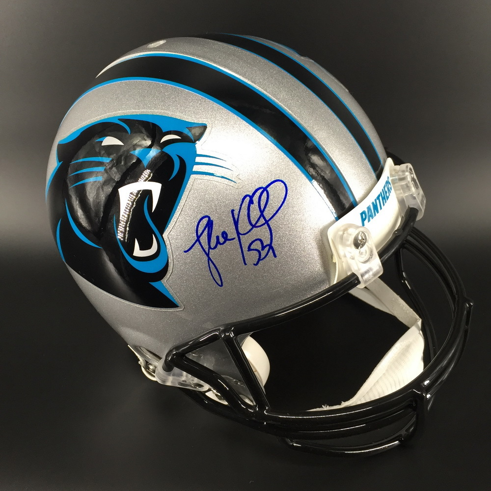 PANTHERS - Luke Kuechly Signed Authentic Proline Helmet