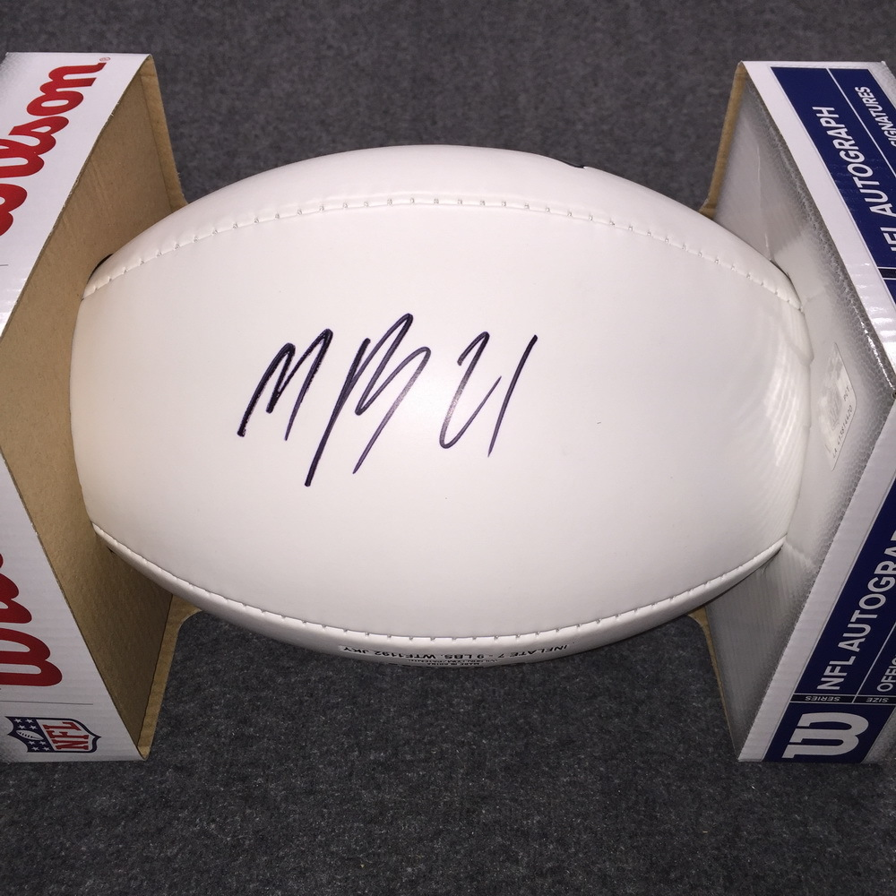 Patriots - Malcolm Butler signed panel ball w/ Patriots logo