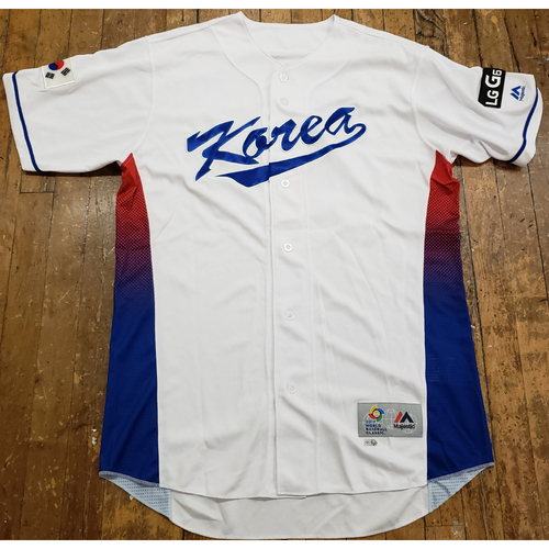 Photo of 2017 World Baseball Classic Game Used Jersey - J H Won (Korea)