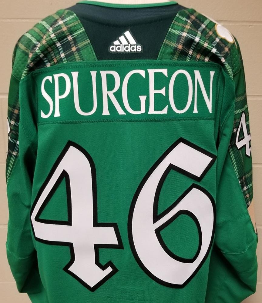 Jared Spurgeon Minnesota Wild 2019 St. Patty's Day Warm-Up Jersey