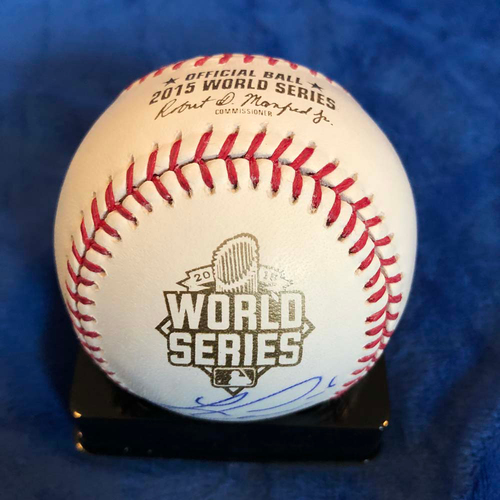 Photo of UMPS CARE AUCTION: 2015 World Series Baseball Signed by Lorenzo Cain