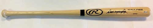 Photo of Dale Murphy Autographed Blonde Rawlings Bat