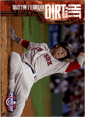 Photo of 2015 Topps Opening Day Hit the Dirt #HTD15 Dustin Pedroia