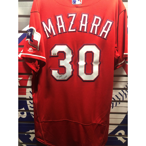 Photo of Nomar Mazara Red Authentic Autographed Jersey