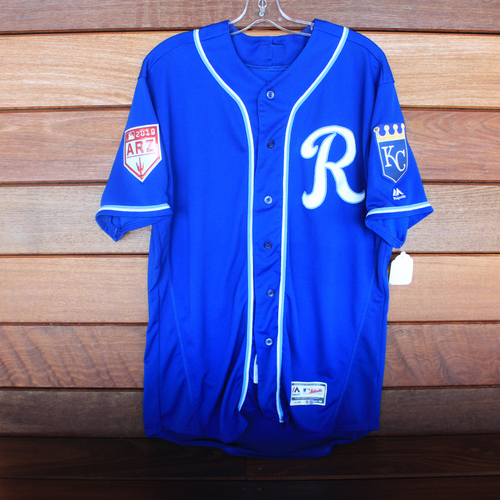 Photo of Game-Used Spring Training Jersey: Jorge Bonifacio (Size 46 - COL @ KC - 2/25/19)