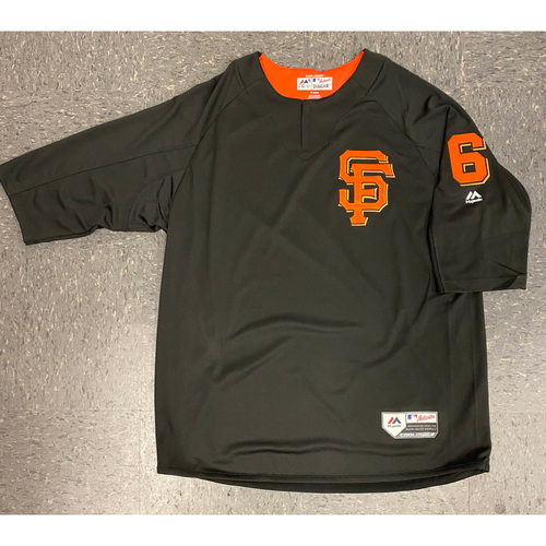 Photo of 2019 Batting Practice Jersey - used by #6 Steven Duggar during 2019 Season - Size XL