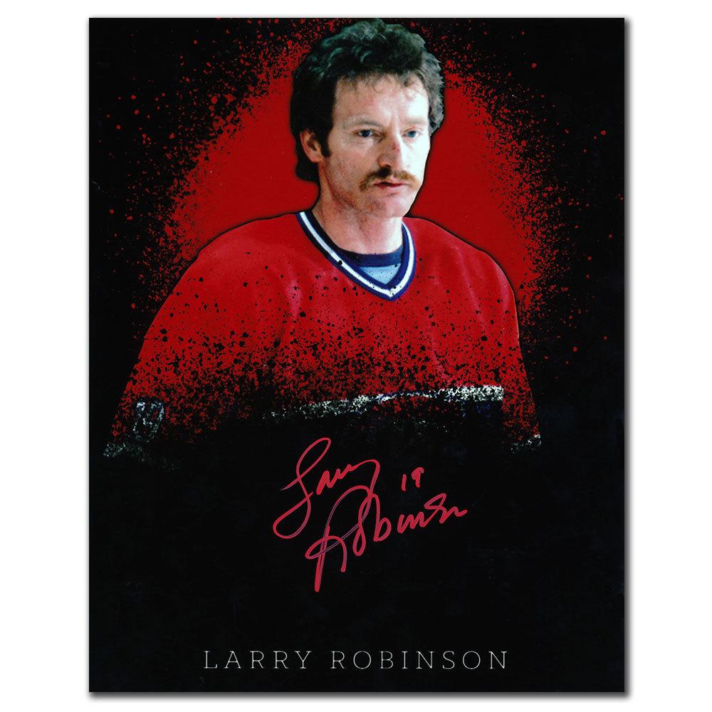 Larry Robinson Montreal Canadiens PORTRAIT Autographed 8x10
