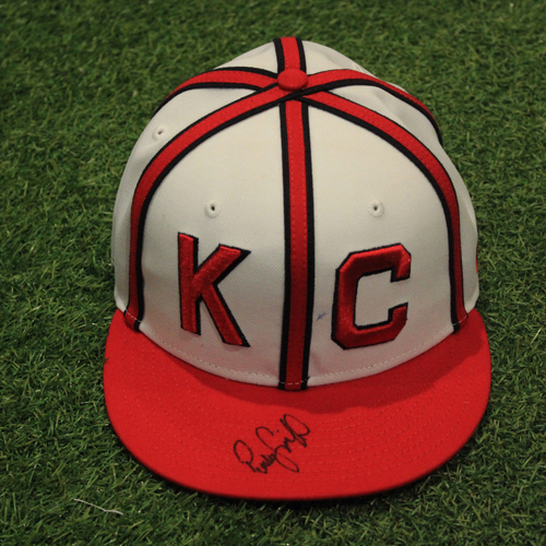 Photo of Autographed Game-Used Monarchs Cap: Pedro Grifol #7