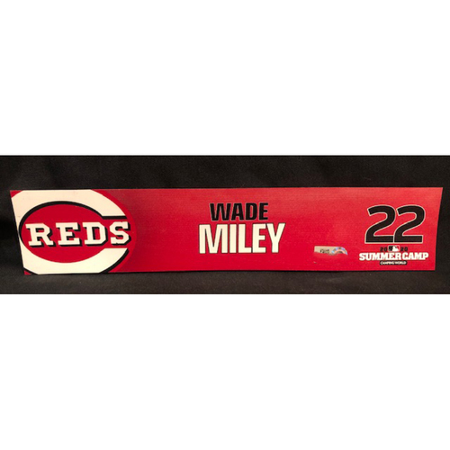 Photo of Wade Miley -- 2020 Sumer Camp Locker Tag -- Team-Issued